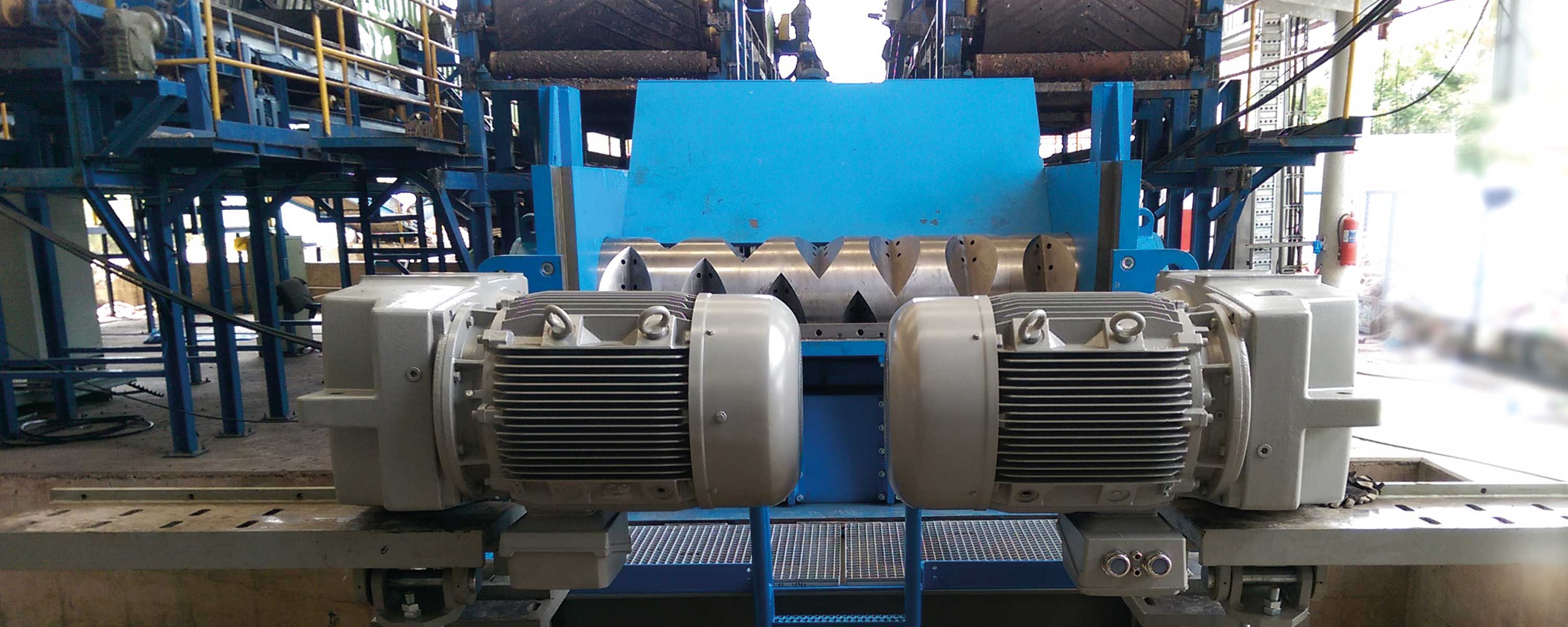 Gearboxes on recycling machinery